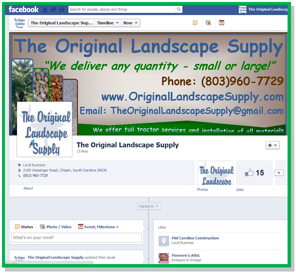 The Original Landscape Supply Facebook Page
