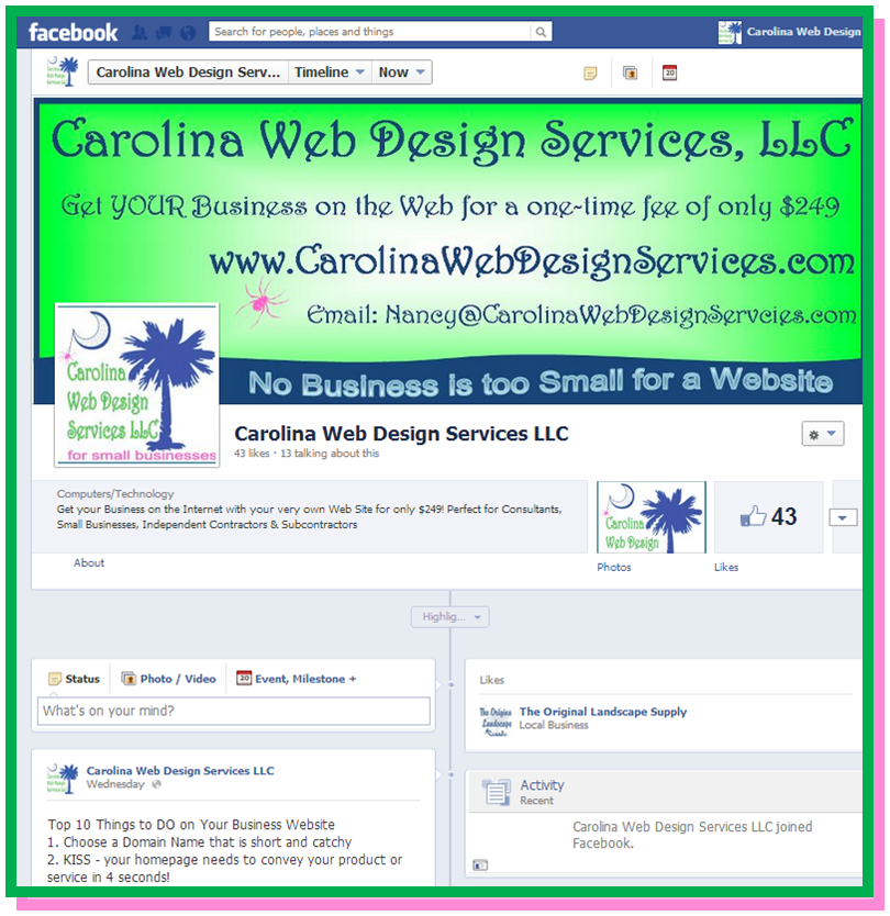Carolina Web Design Services, LLC