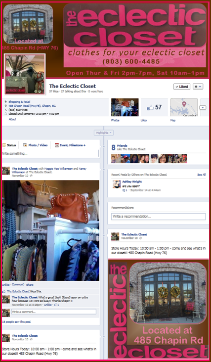 The Eclectic Closet Facebook Page
