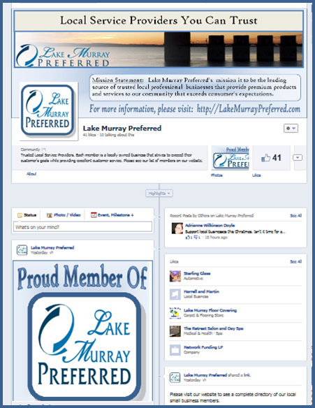 Lake Murray Preferred Facebook Business Page